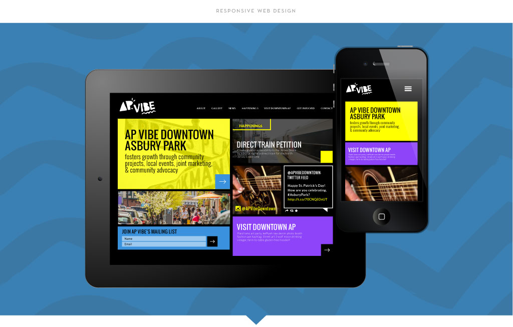 AP Vibe responsive web design by M studio
