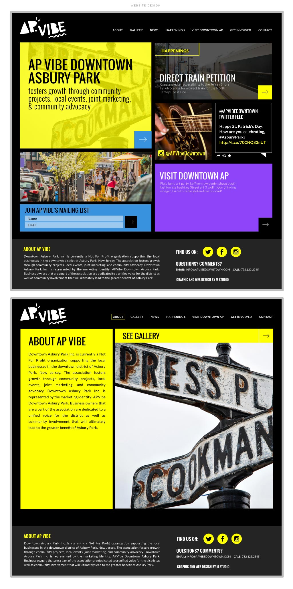 AP Vibe web design by M studio