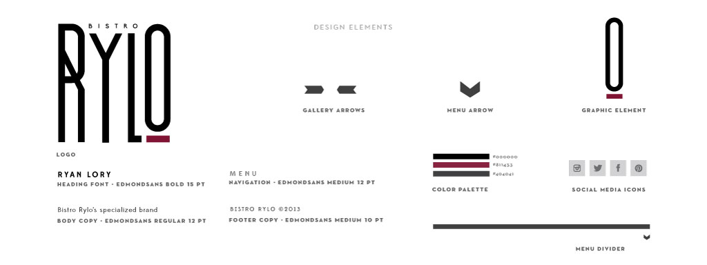 Bistro Rylo graphic design by M studio