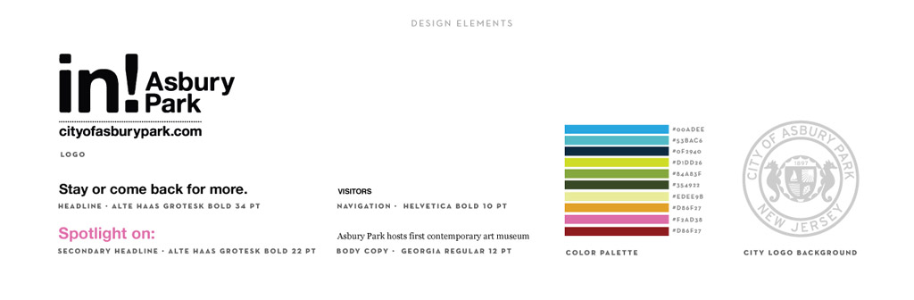 City of Asbury Park graphic design by M studio
