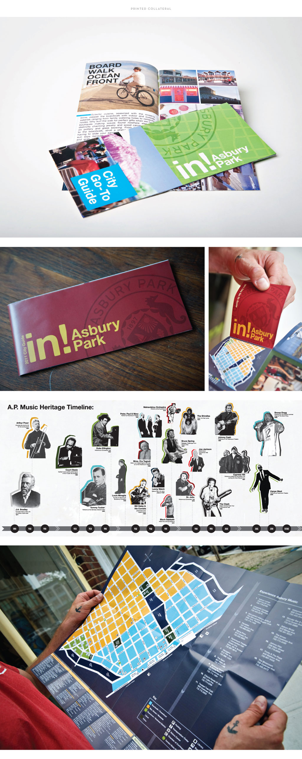 City of Asbury Park brochure and map design by M studio