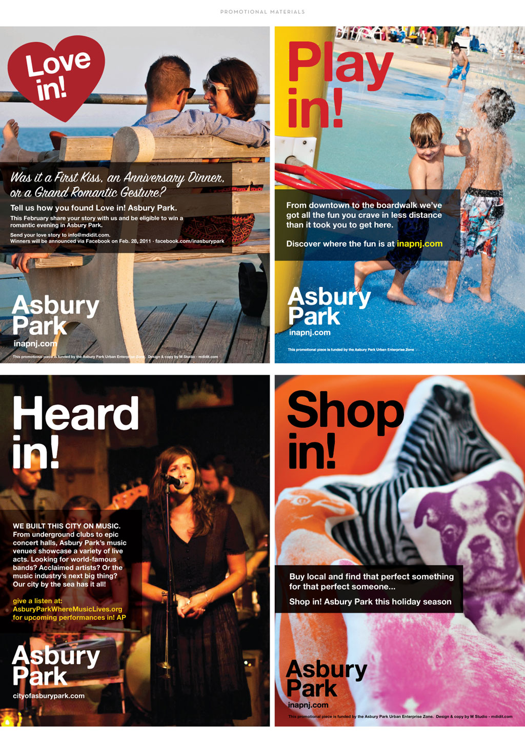 City of Asbury Park print advertisements by M studio
