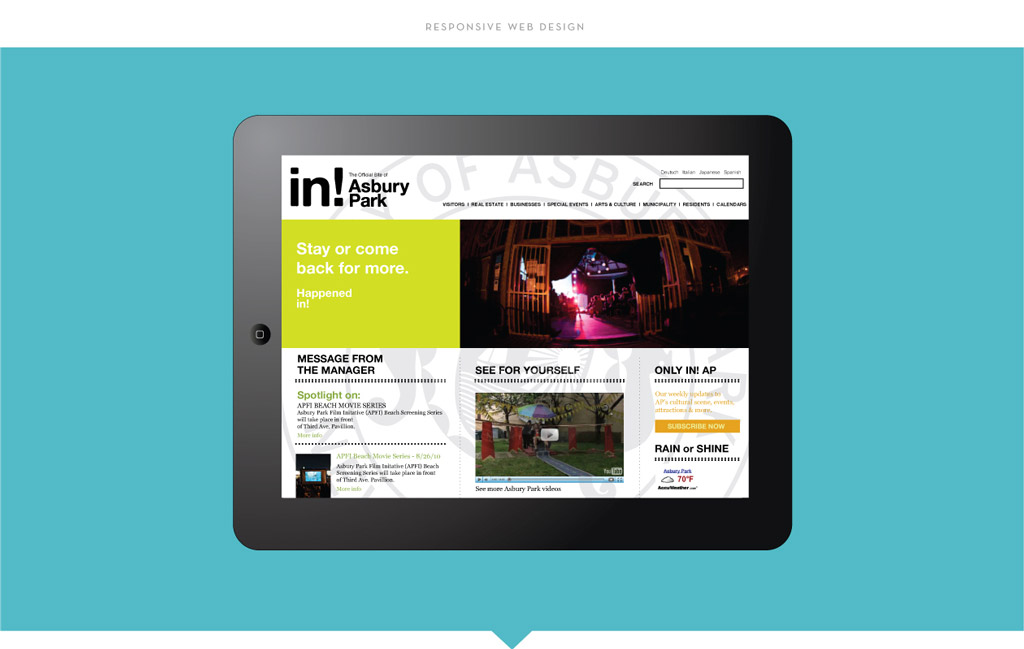 City of Asbury Park responsive web design by M studio