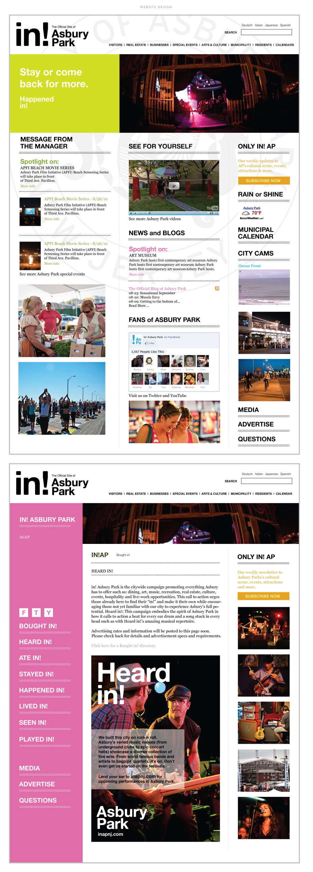 City of Asbury Park web design by M studio