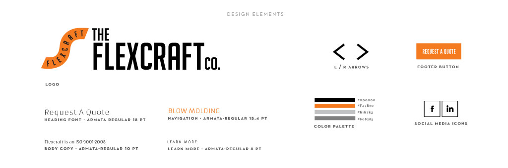 Flexcraft graphic design by M studio
