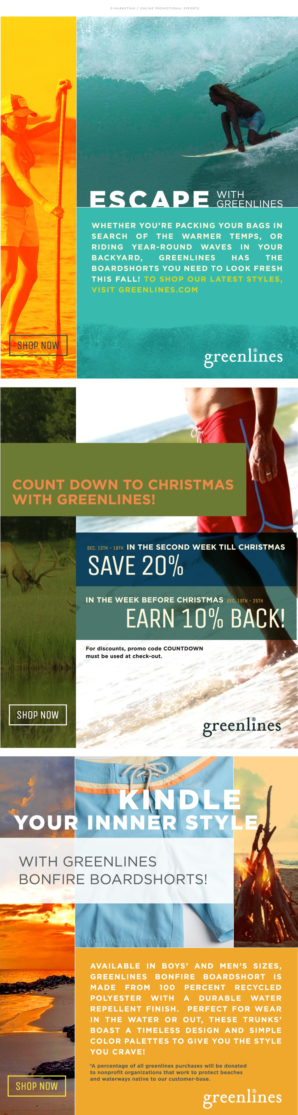 Greenlines email marketing by M studio