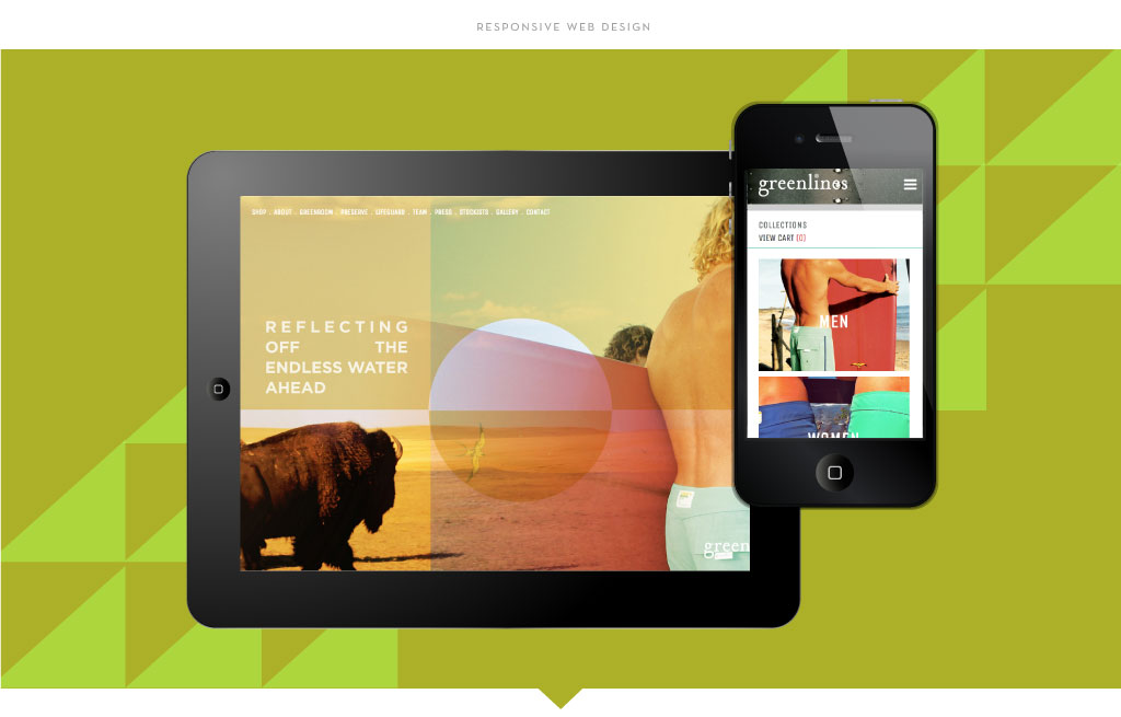 Greenlines responsive web design by M studio