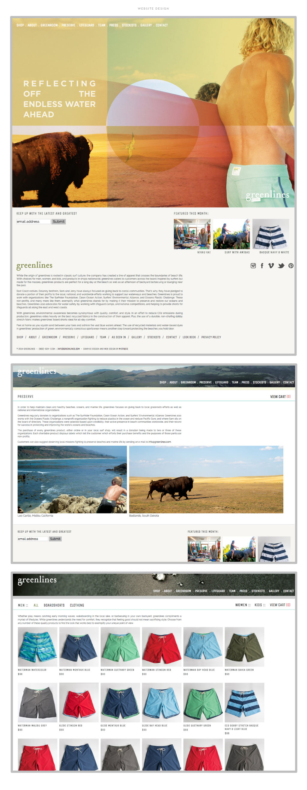 Greenlines web design by M studio