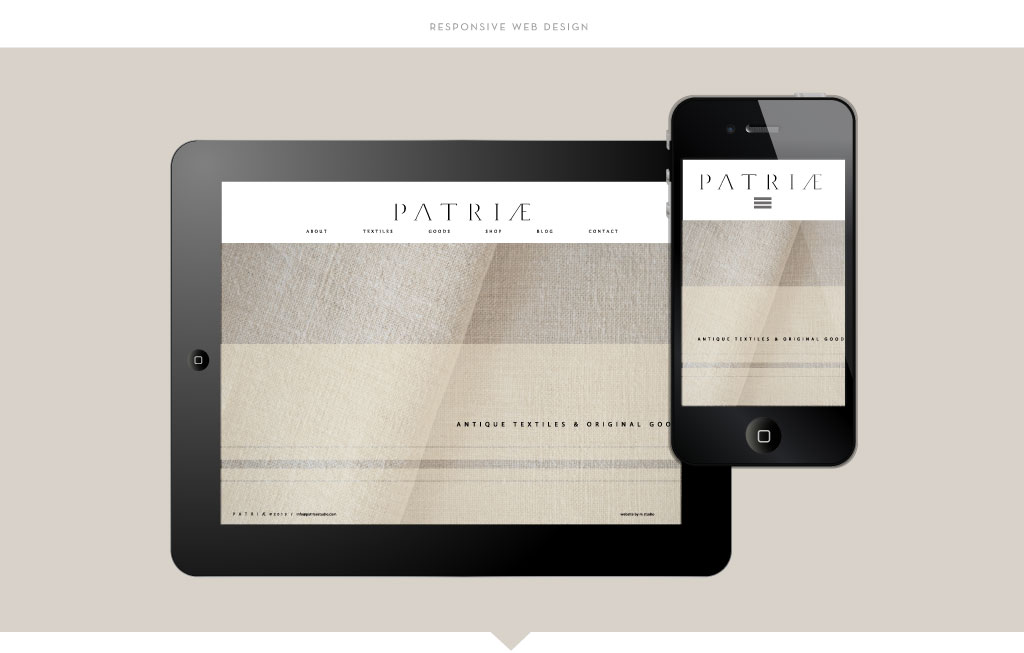 Patriae responsive web design by M studio
