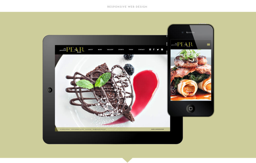 Poached Pear responsive web design by M studio