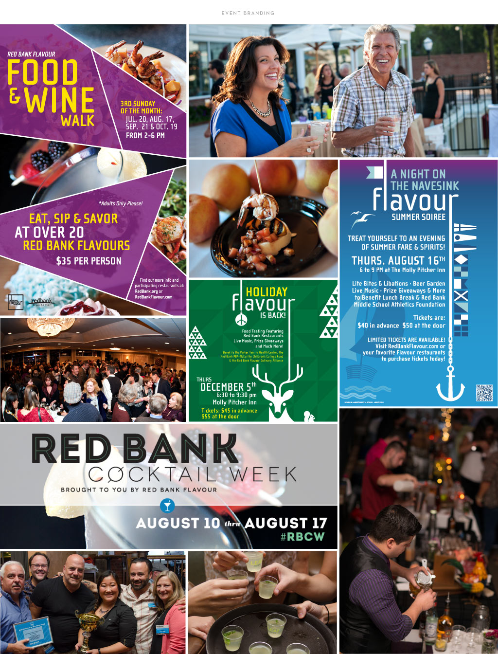 Red Bank Flavour event branding by M studio