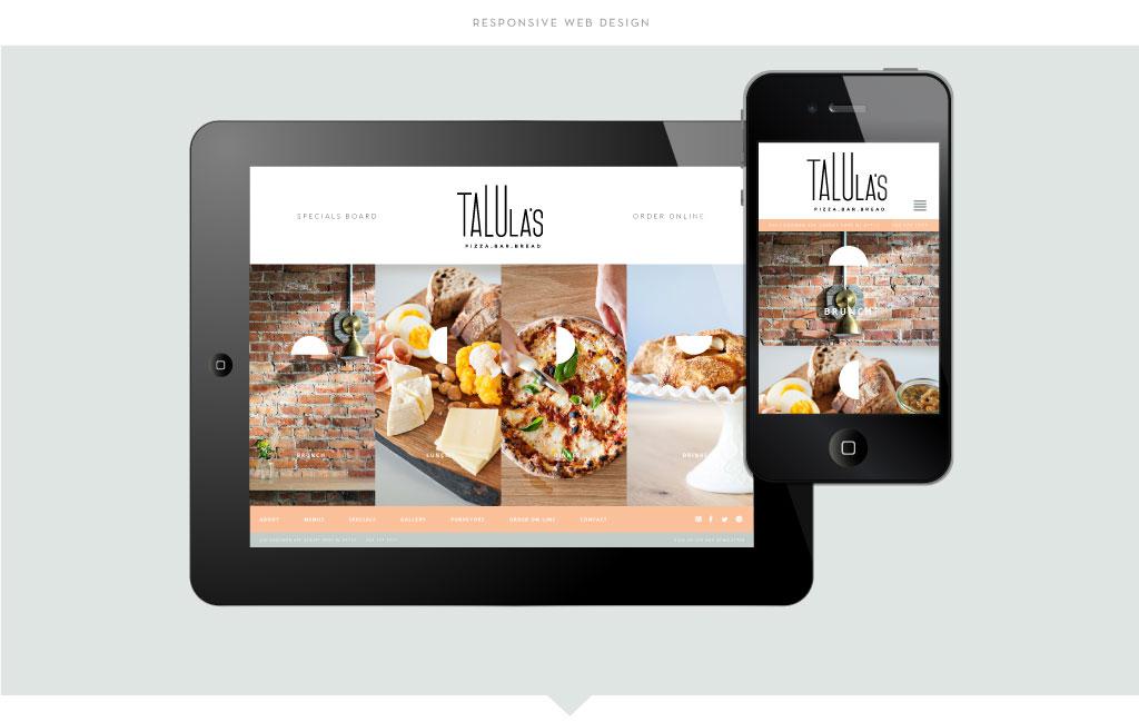 Talula's responsive web design by M studio