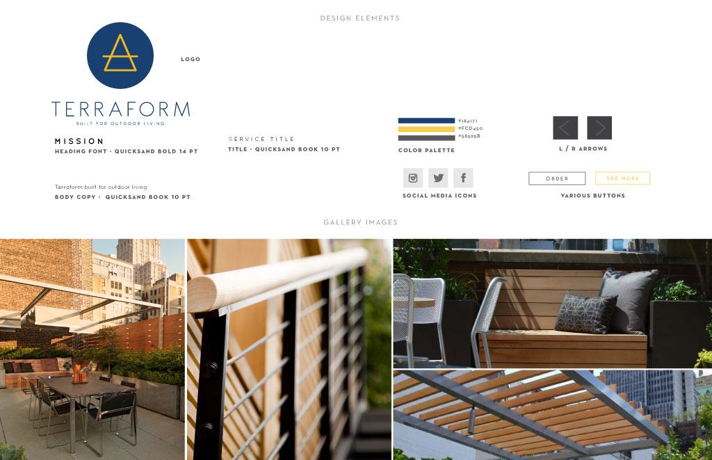 Terraform graphic design by M studio