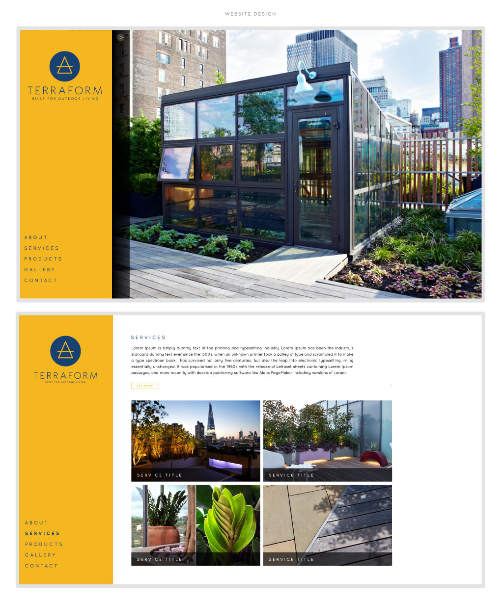 Terraform web design by M studio