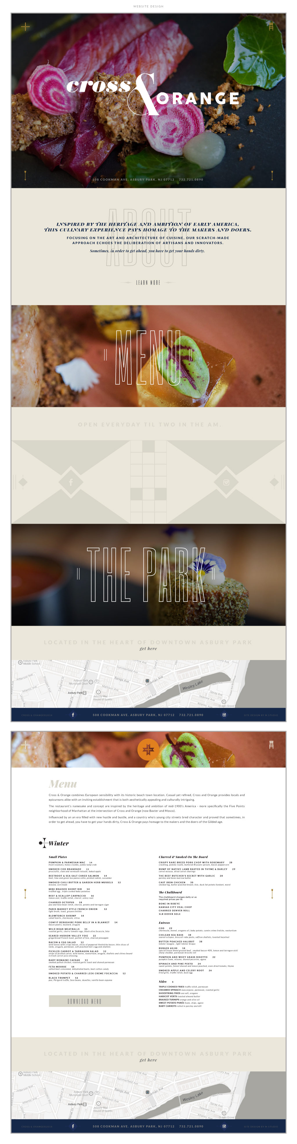 Cross & Orange web design by M studio