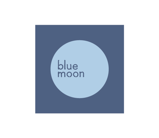 Blue Moon logo design by M studio