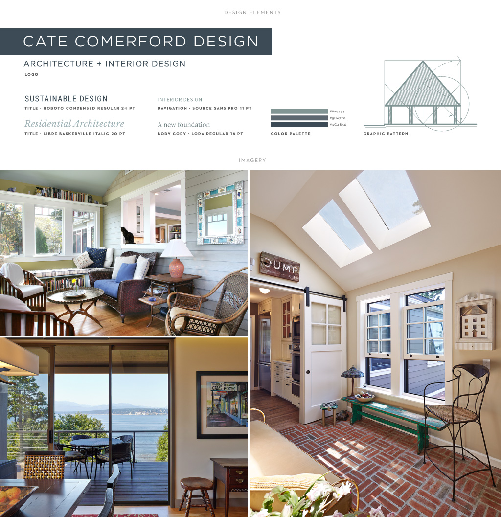 Cate Comerford Architecture graphic design by M studio