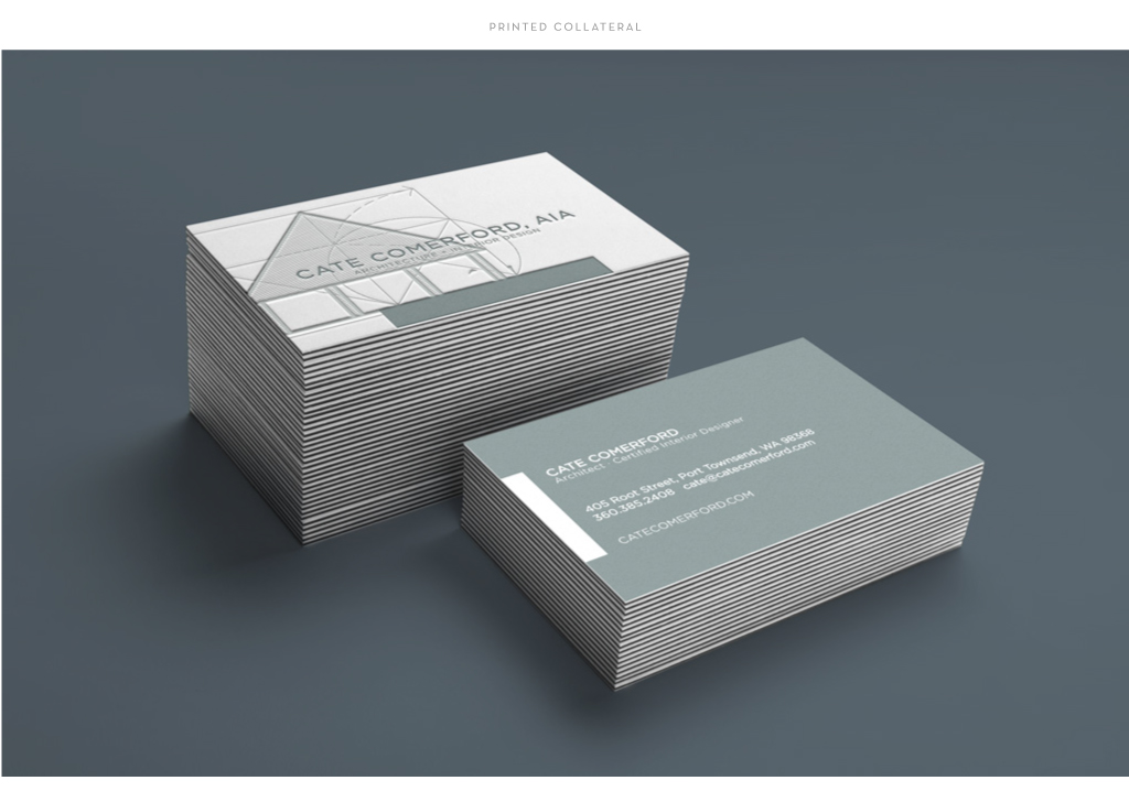 Cate Comerford Architecture business card design by M studio
