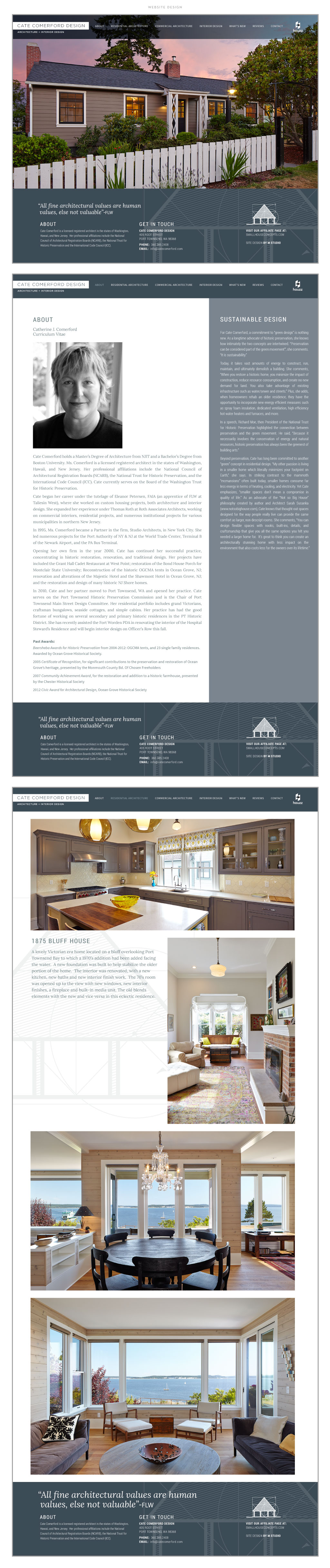 Cate Comerford Architecture web design by M studio