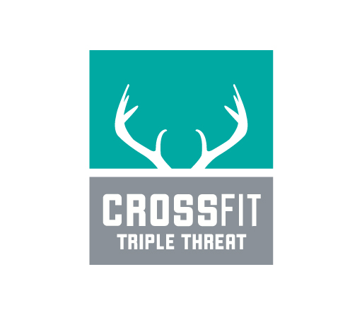 Crossfit Triple Threat logo design by M studio