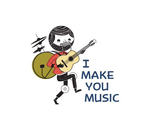 I Make You Music logo design by M studio