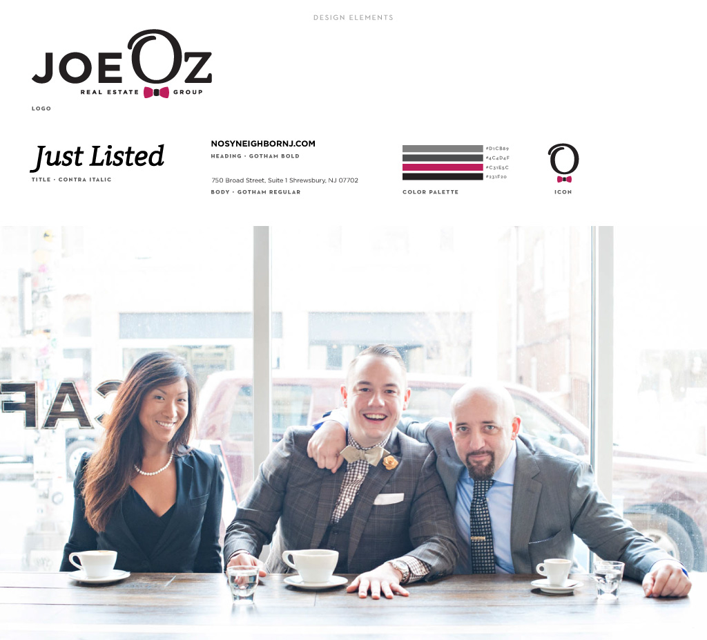 Joe Oz Real Estate Group graphic design by M studio