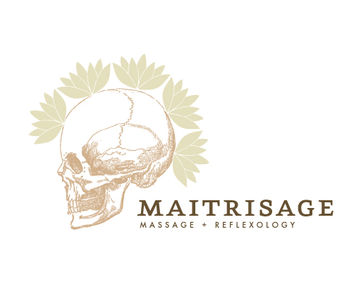 Maitrisage Massage + Reflexology logo design by M studio