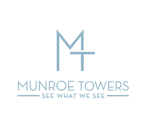 Munroe Towers logo design by M studio