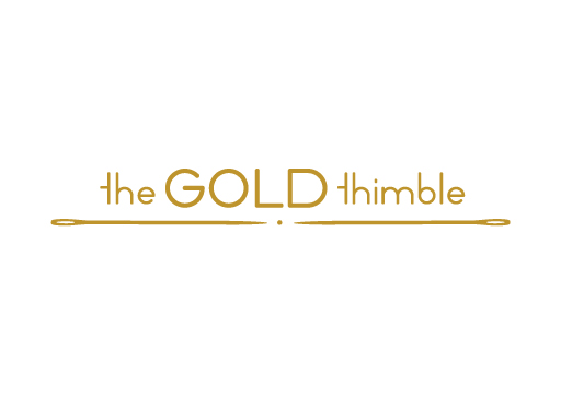 The Gold Thimble logo design by M studio