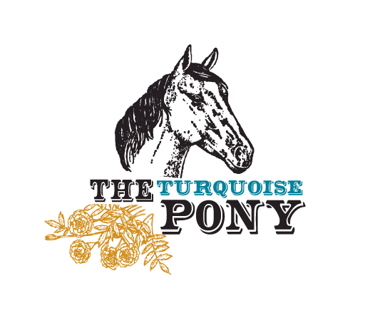 The Turquoise Pony logo design by M studio