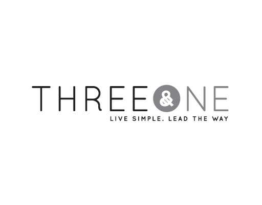 Three & One logo design by M studio