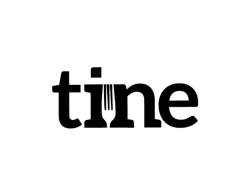 Tine logo design by M studio