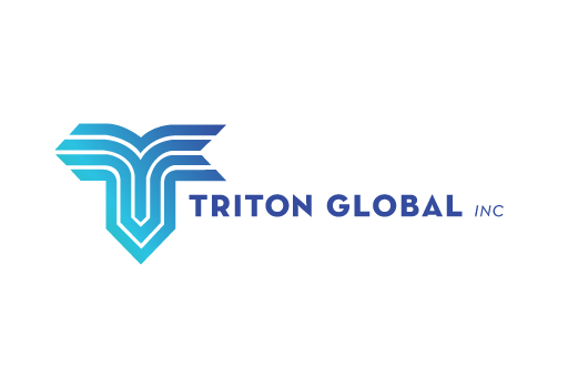 Triton Global Inc. logo design by M studio