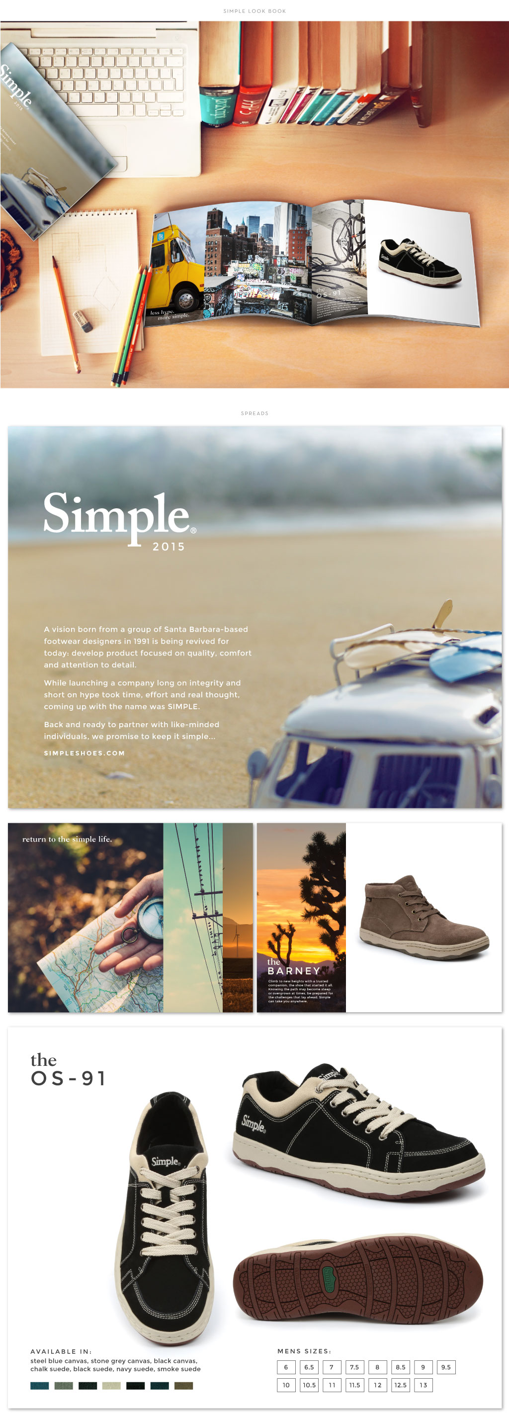 Simple Shoes look book design by M studio