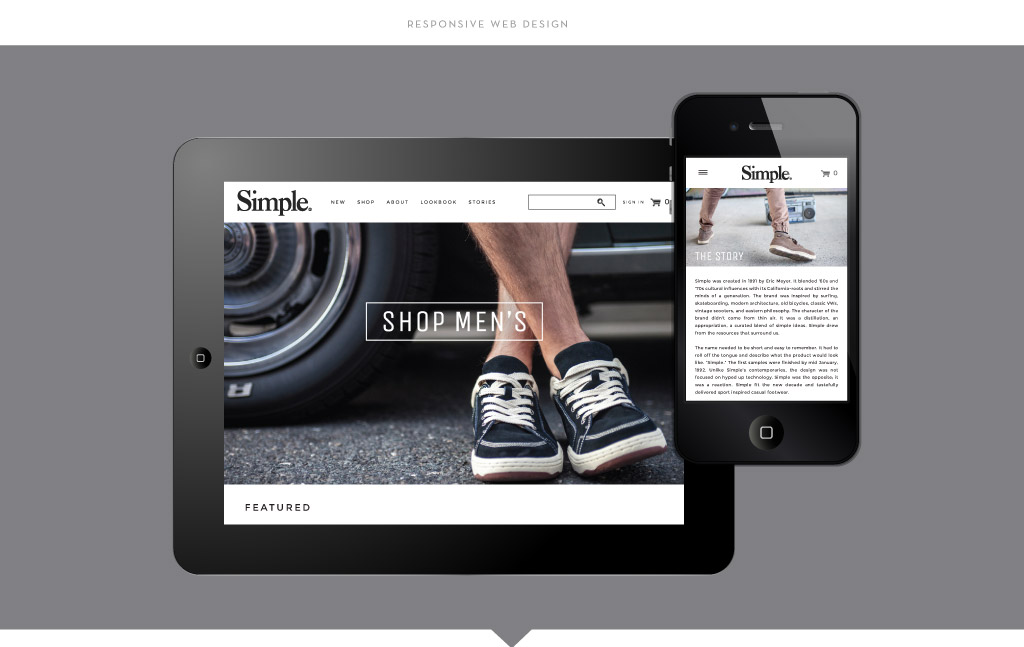 Simple Shoes Responsive Web Design by M studio