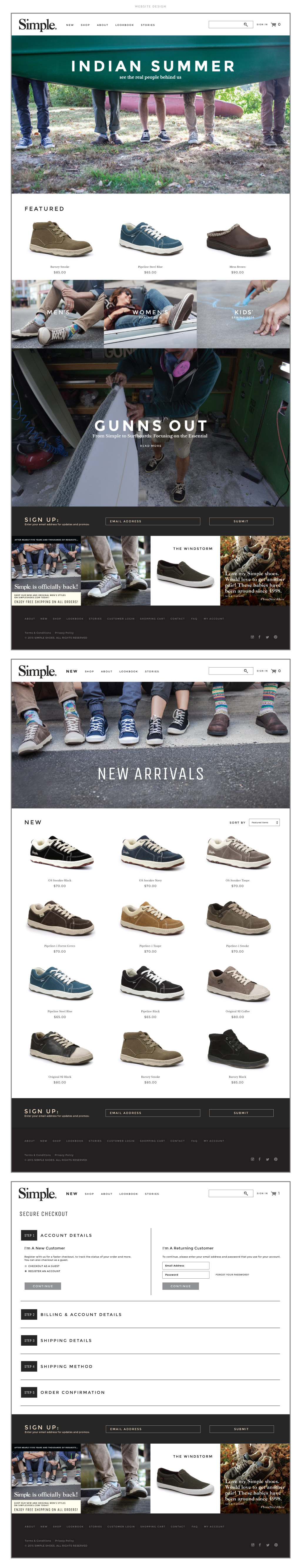Simple Shoes Web Design by M studio