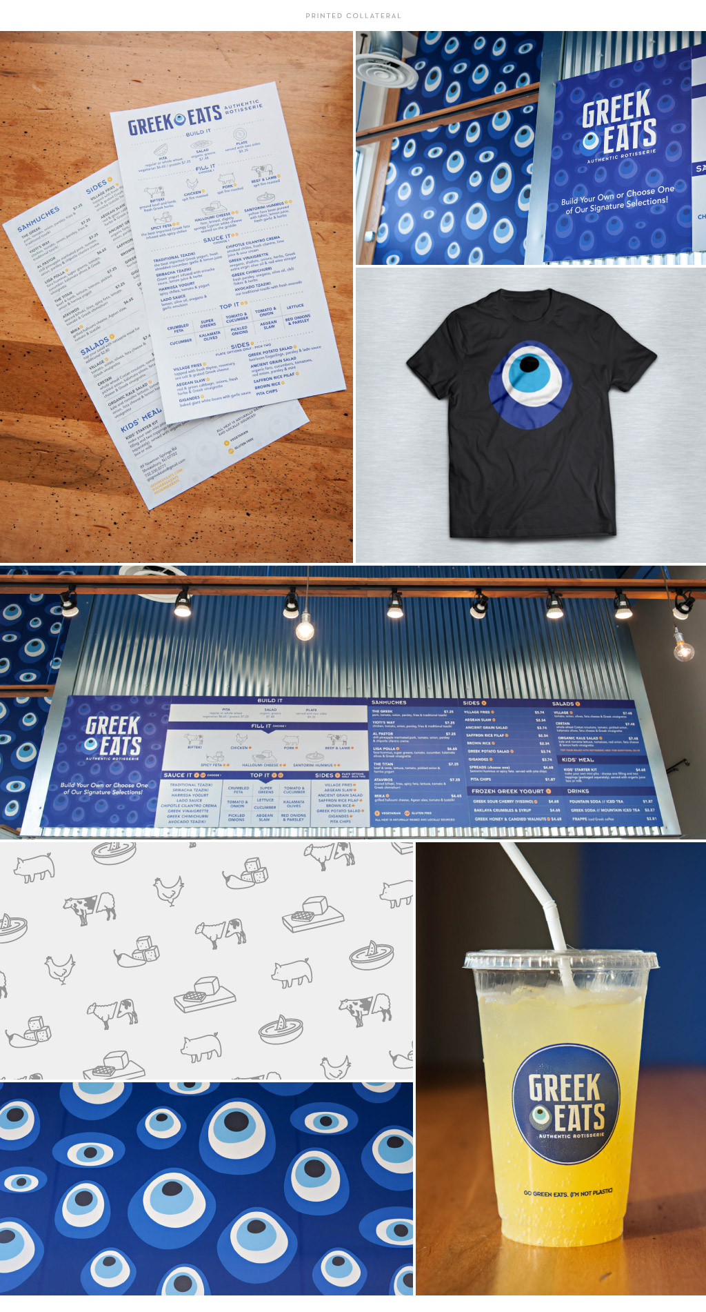 Greek Eats Printed Collateral by M studio