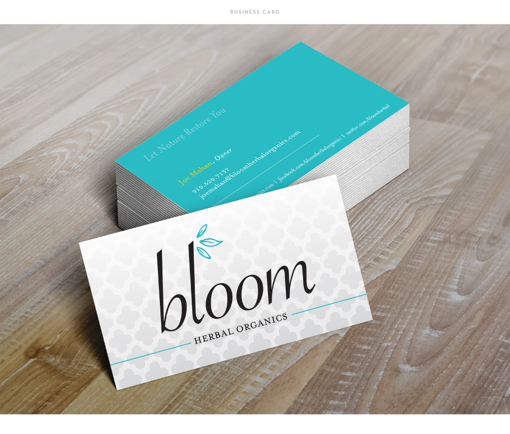 Bloom Herbal Organics business card design by M studio