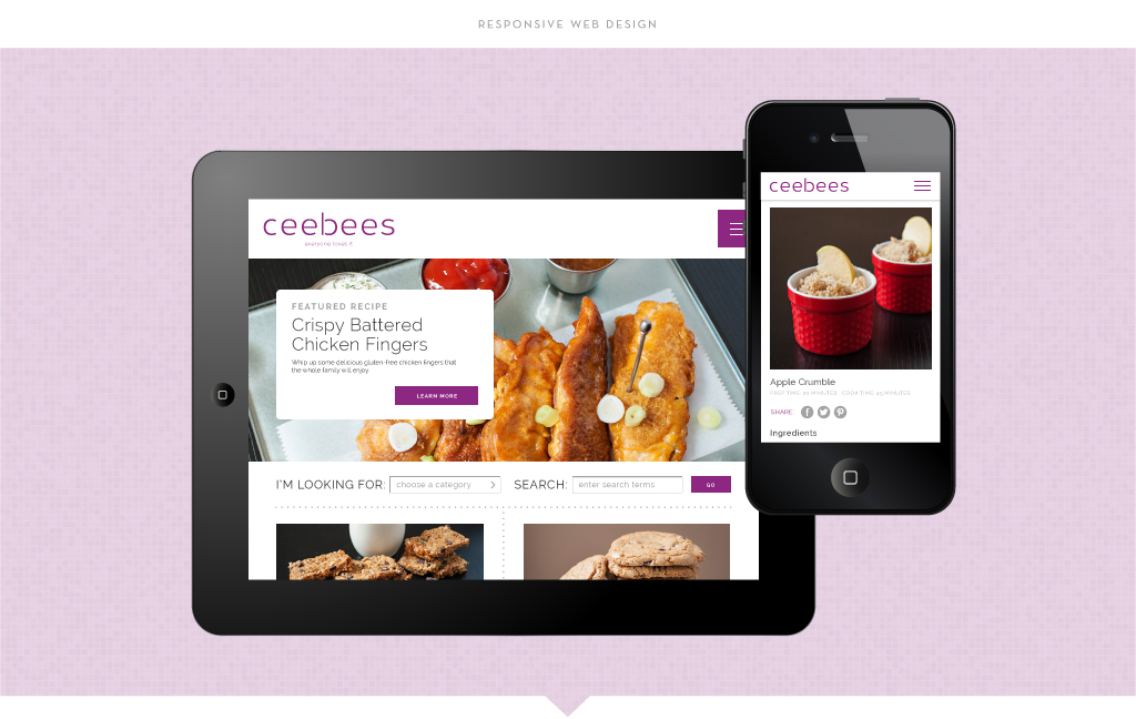 Ceebees responsive web design by M studio