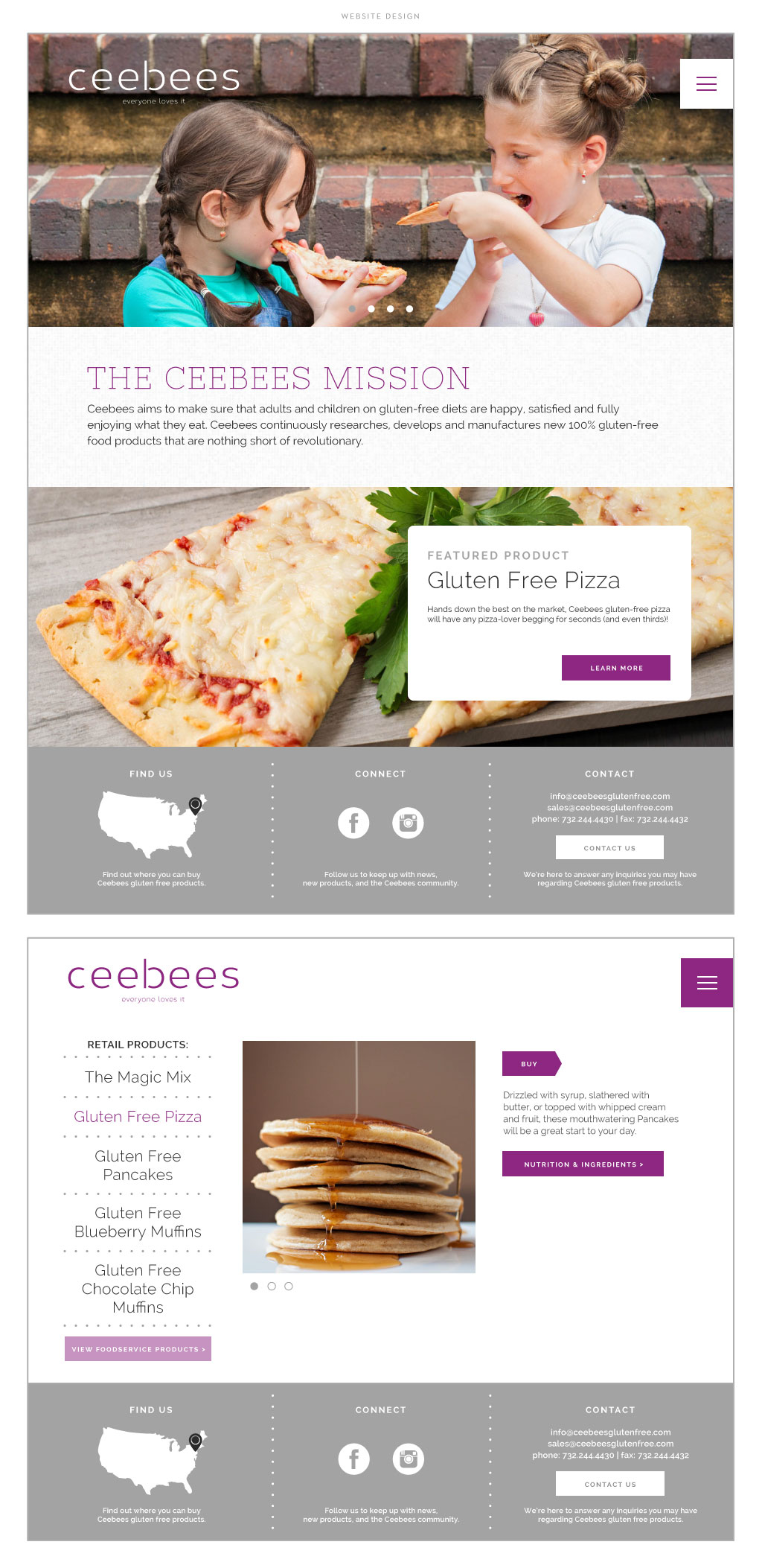 Ceebees web design by M studio