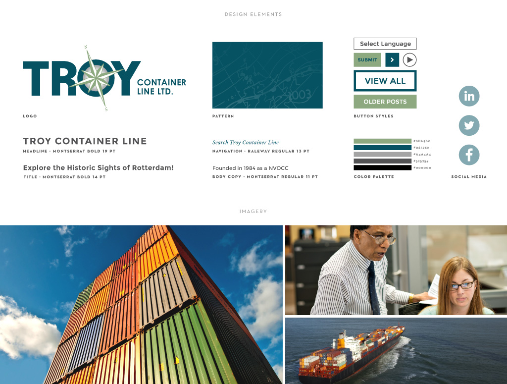 Troy Container Line graphic design by M studio