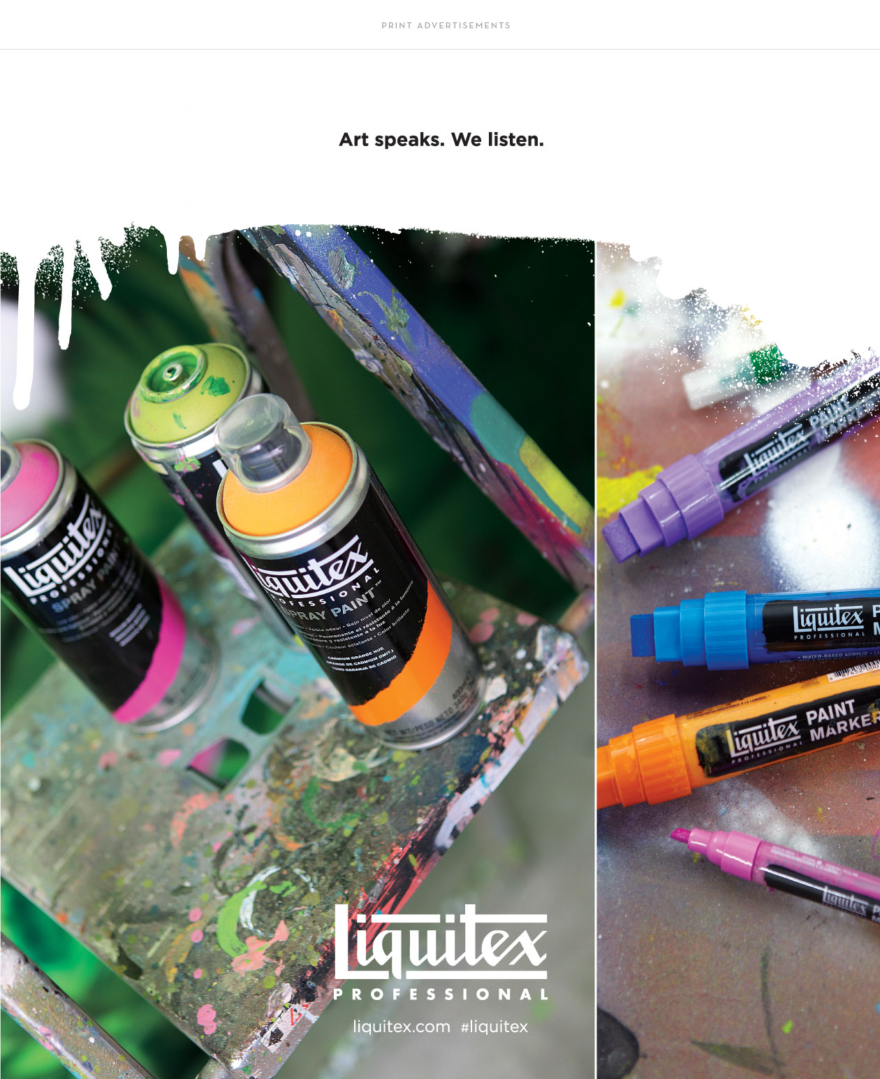 liquitex print advertisement by m studio