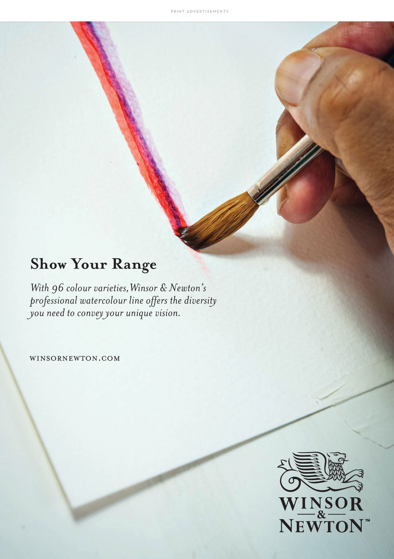 winsor and newton print advertisements by m studio