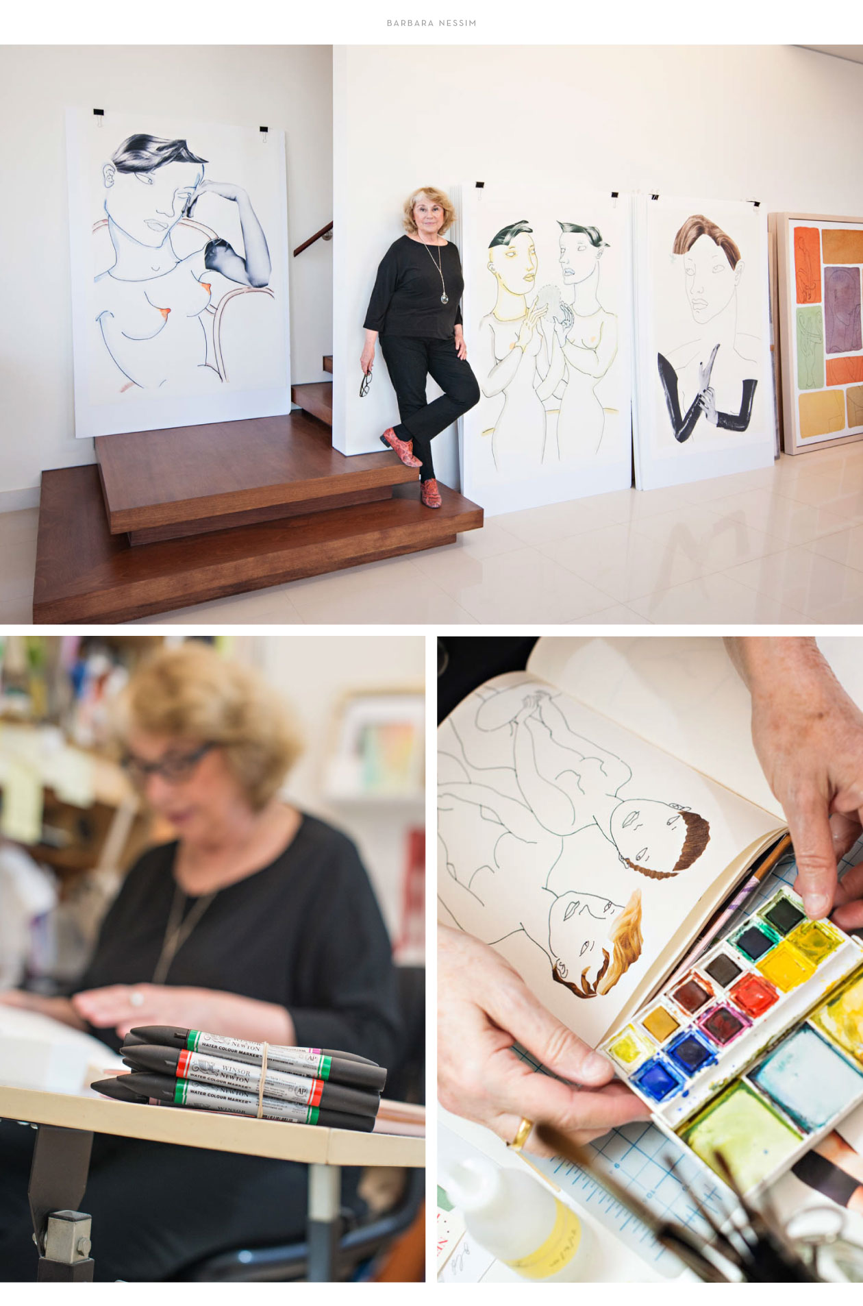 winsor and newton brand ambassador barbara nessim photography by m studio